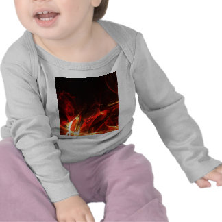 Fire Logo Fractal Abstract Art Gear T-shirts