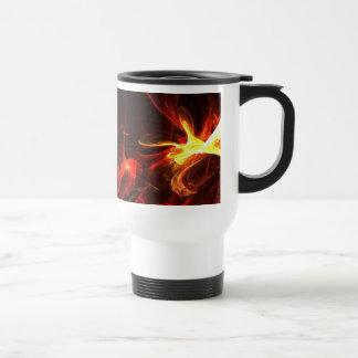 Fire Logo Fractal Abstract Art Gear Travel Mug