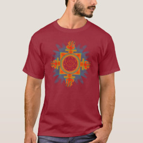 Fire-Lotus-Eye yantra T-Shirt