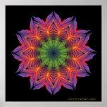 Fire Lotus Mandala Poster
