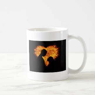 Fire Love Heart Coffee Mug