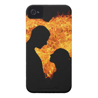 Fire Love Heart iPhone 4 Cases