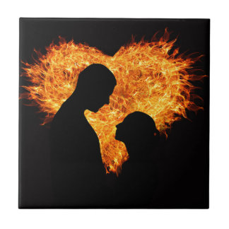 Fire Love Heart Tile
