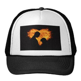 Fire Love Heart Trucker Hat