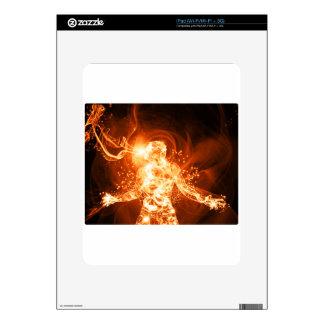 Fire man iPad skin
