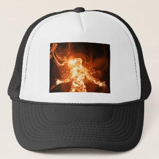 Fire man trucker hat