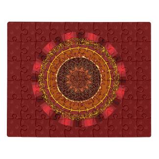 Fire Mandala Acrylic Puzzle