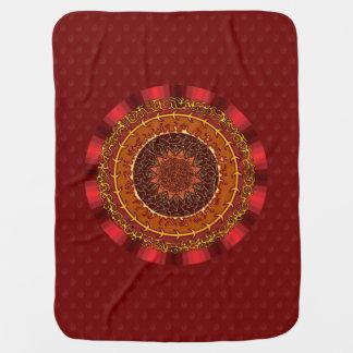 Fire Mandala Baby Blanket