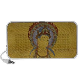 Fire Mandala Buddha Doodle Speaker Bamboo Backg