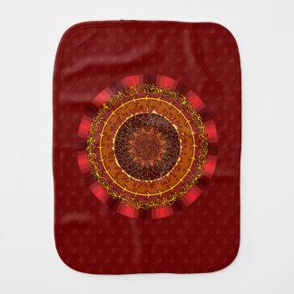 Fire Mandala Burp Cloth