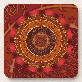 Fire Mandala Square Coaster