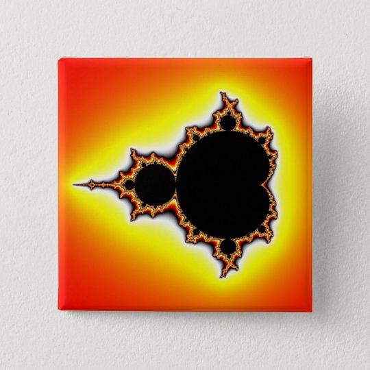 Fire Mandelbrot Pinback Button