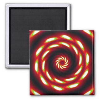 Fire Moon Mandala 2 Inch Square Magnet