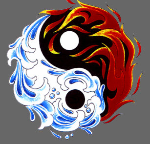 Yin Yang Fire And Ice Clothing Zazzle