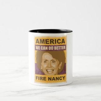 Fire Nancy Pelosi Two-Tone Coffee Mug