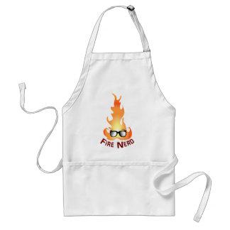 """Fire Nerd"" Cool Fire Adult Apron"