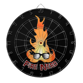 """""""Fire Nerd"""" Cool Fire Dartboards"""