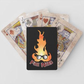 """Fire Nerd"" Cool Fire Playing Cards"