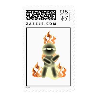 Fire Ninja (by lil kolohe Nick) Postage