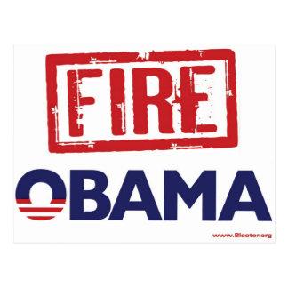 Fire Obama Postcard