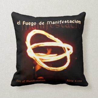 Fire of Manifestacion Throw Pillow