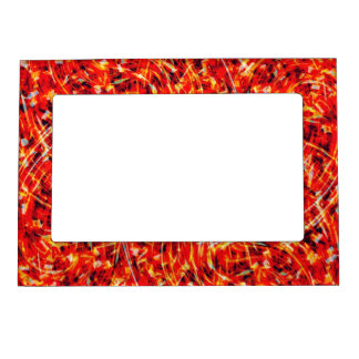 Fire of The Phoenix Picture Frame Magnet