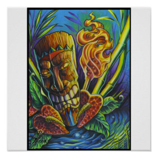Fire of the Tiki god-print