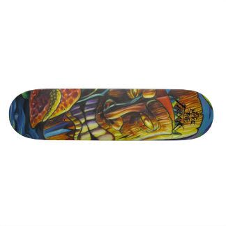 Fire of the Tiki god Skateboard Deck