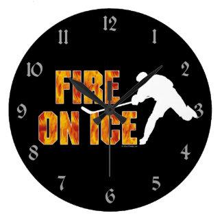 Fire On Ice Wall Clock
