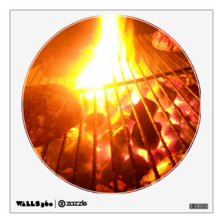 Fire on the Grill Wall Decal