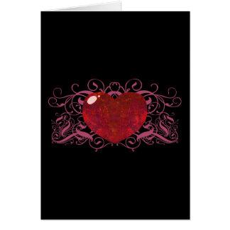 Fire Opal Heart Greeting Card