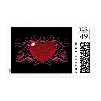 Fire Opal Heart Postage
