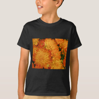 Fire Orange Chrysanthemums T-Shirt