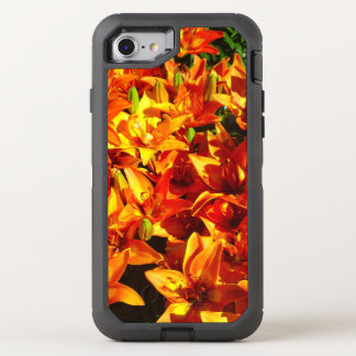 Fire Orange Lily 2 Flower Otter Box OtterBox Defender iPhone 7 Case