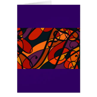 Fire Orange Reds, swirl abstract design, template