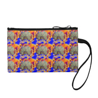 Fire Orchid -blue Coin Purse