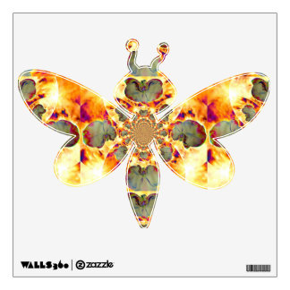 Fire Orchid Drangonfly Wall Sticker