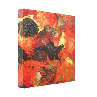 Fire - Original Mixed Media Abstract Painting Canvas Print