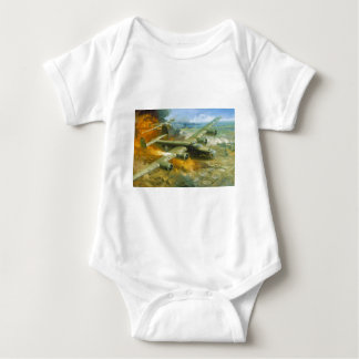 Fire Over Ploesti by Roy Grinnell Baby Bodysuit