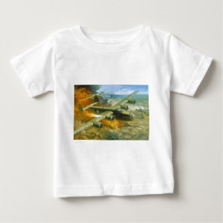 Fire Over Ploesti by Roy Grinnell Baby T-Shirt