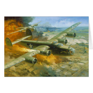 Fire Over Ploesti by Roy Grinnell Card