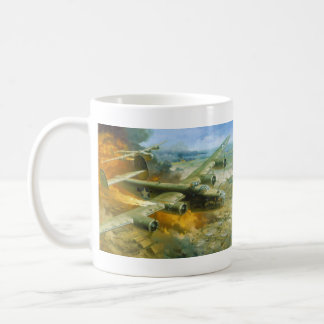 Fire Over Ploesti by Roy Grinnell Coffee Mug