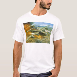 Fire Over Ploesti by Roy Grinnell T-Shirt