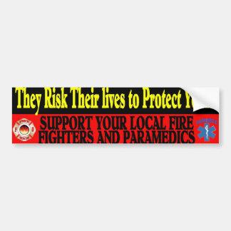 fire paramedic sticker car bumper sticker