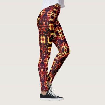 USA Themed Fire pattern leggings