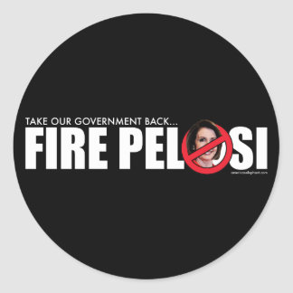 Fire Pelosi Classic Round Sticker