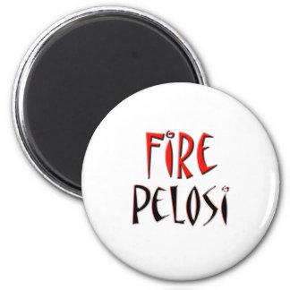 Fire Pelosi Red and Black Design Magnet