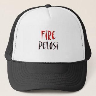 Fire Pelosi Red and Black Design Trucker Hat