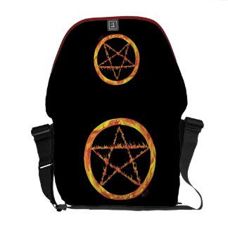 Fire Pentacle Messenger Bag