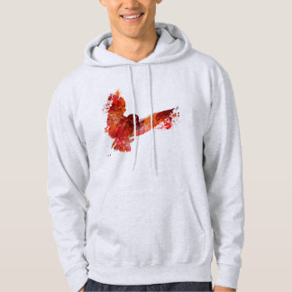 Fire phenix owl color splash hoodie